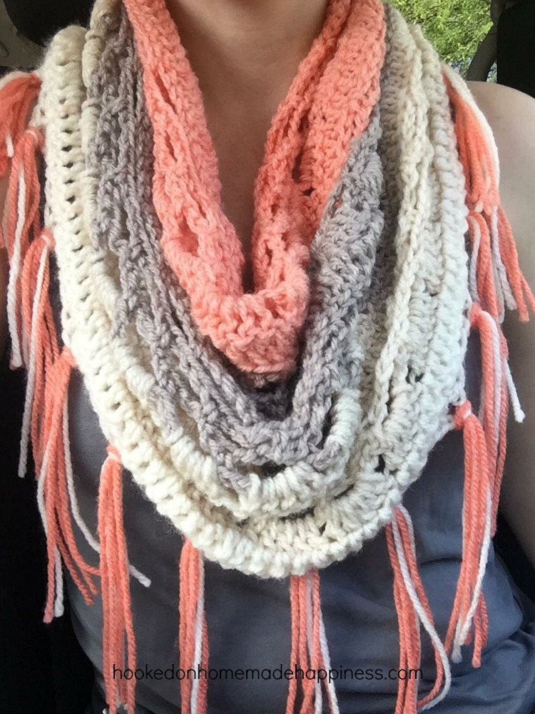 Just Peachy Cowl Crochet Pattern