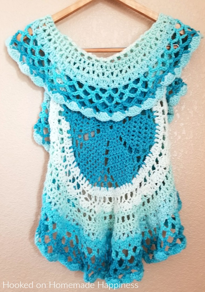 Crochet Circle Vest Pattern 3 Hooked On Homemade Happiness