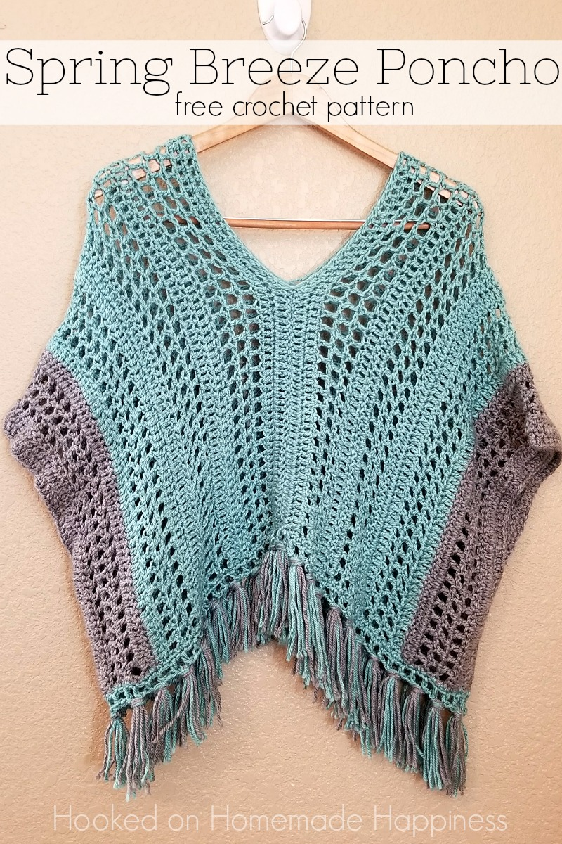 Spring Breeze Crochet Poncho | Hooked on Homemade Happiness