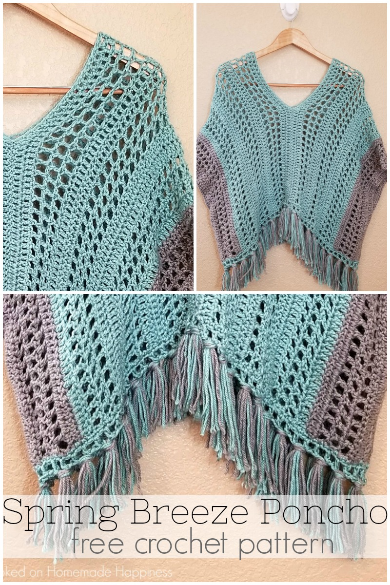 Spring Breeze Poncho Crochet Pattern - This Spring Breeze Poncho is a little shorter than your typical poncho, with an open and airy pattern. Since it's spring, I didn't want anything too heavy.