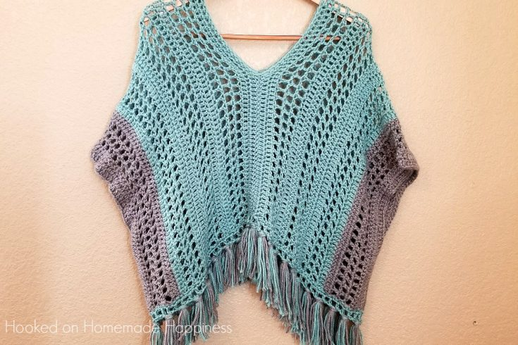 Spring Breeze Poncho Crochet Pattern - This Spring Breeze Poncho is a little shorter than your typical poncho, with an open and airy pattern. Since it's spring, I didn't want anything too heavy.Spring Breeze Poncho Crochet Pattern - This Spring Breeze Poncho is a little shorter than your typical poncho, with an open and airy pattern. Since it's spring, I didn't want anything too heavy.
