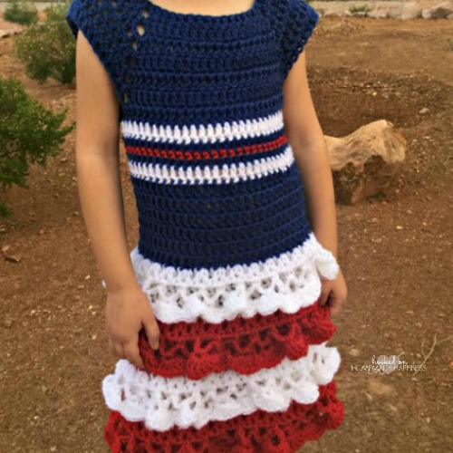 Red White Blue Crochet Dress Hooked On Homemade Happiness