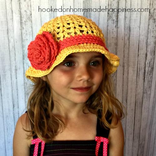 1b29969ec1c2b Sunshine   Roses Crochet Floppy Hat