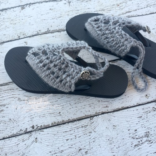 diverse styles online retailer get cheap Crochet Sandals with Rubber Flip Flops | Hooked on Homemade ...