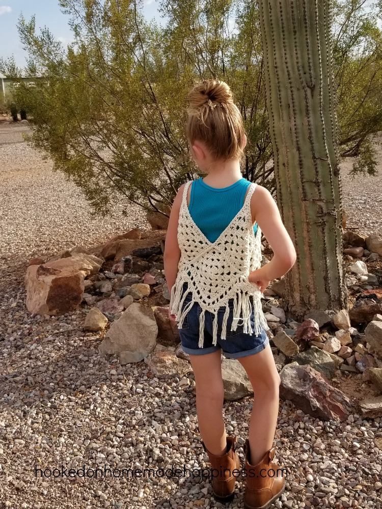 Girls Boho Crochet Vest Hooked On Homemade Happiness