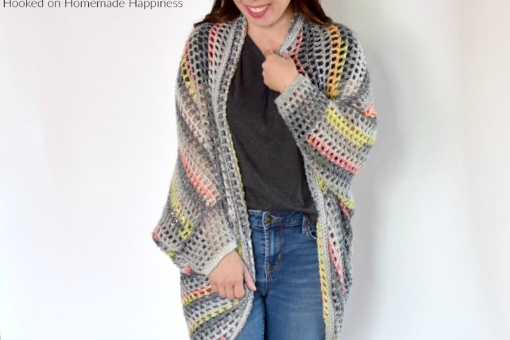 Urban Chic Cocoon Sweater Crochet Pattern - I really enjoy making cocoon sweaters. They're super easy to make and there are endless possibilities. Trust me when I say, any crocheter can make this Urban Chic Cocoon Sweater Crochet Pattern! If you can crochet a rectangle, you can make a cocoon sweater.
