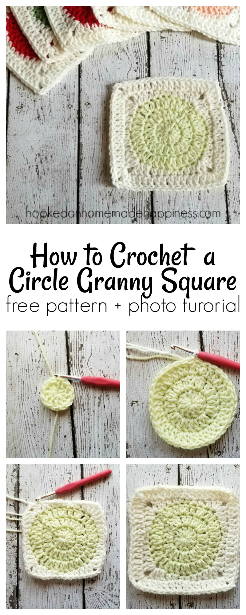 circle granny square long | Hooked on Homemade Happiness