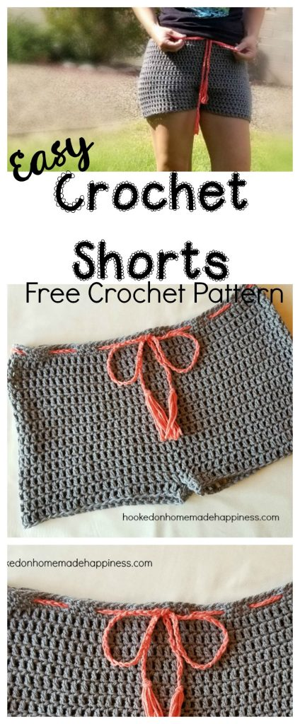 Easy Crochet Shorts Hooked On Homemade Happiness
