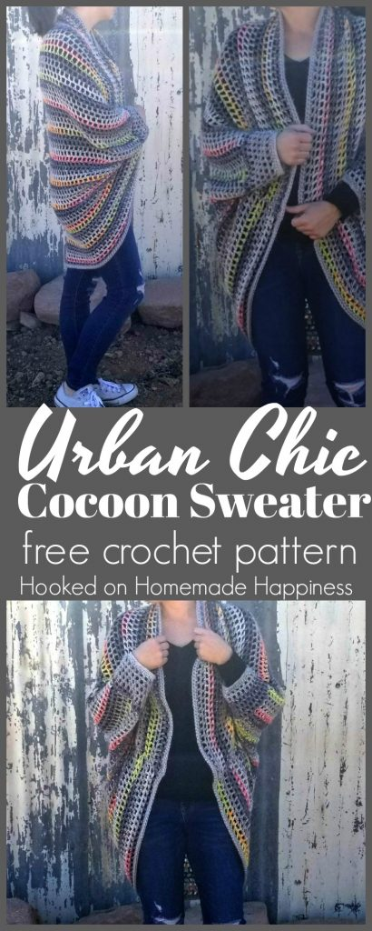cocoon sweater free crochet pattern