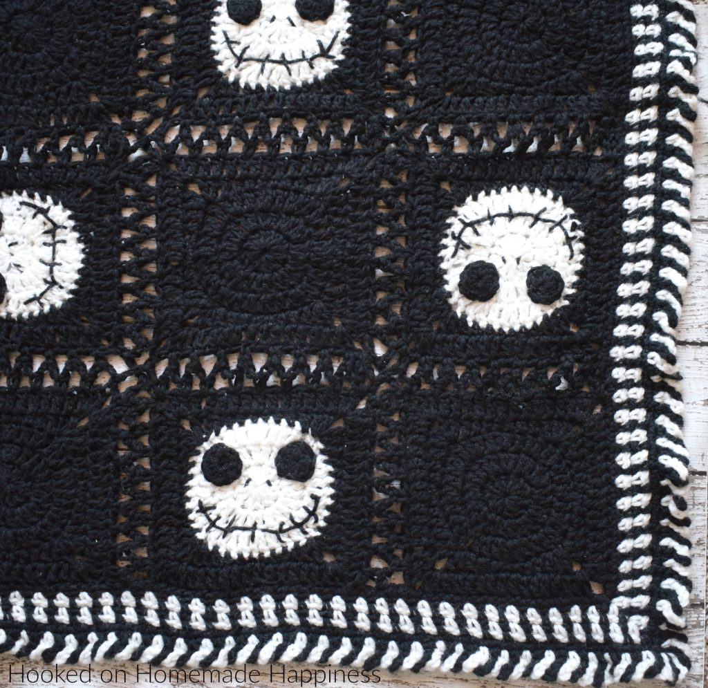 Christmas Crochet Blanket Free Pattern.Halloween Crochet Blanket Hooked On Homemade Happiness