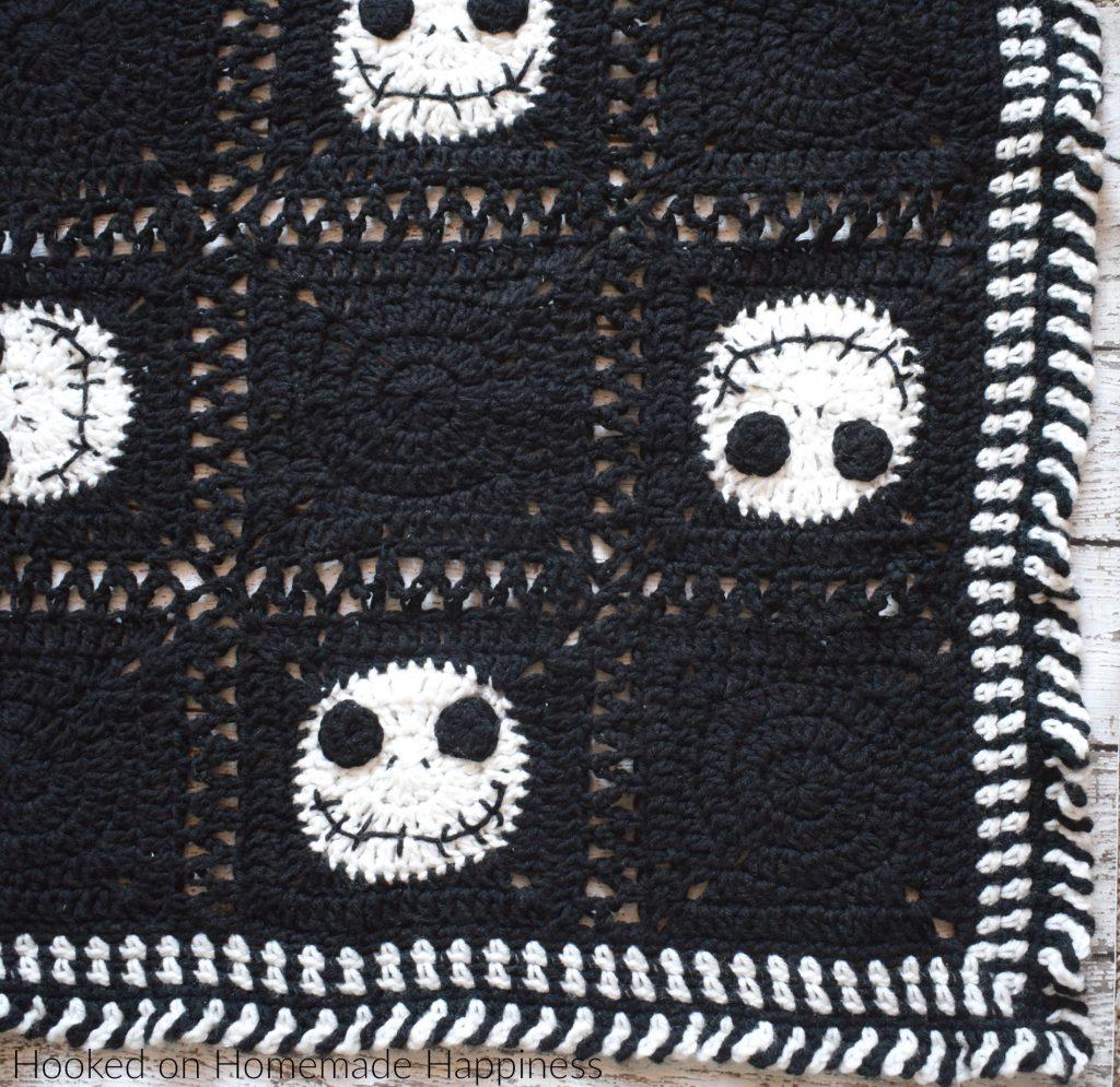 Nightmare Before Christmas Crochet Blanket.Halloween Crochet Blanket Hooked On Homemade Happiness