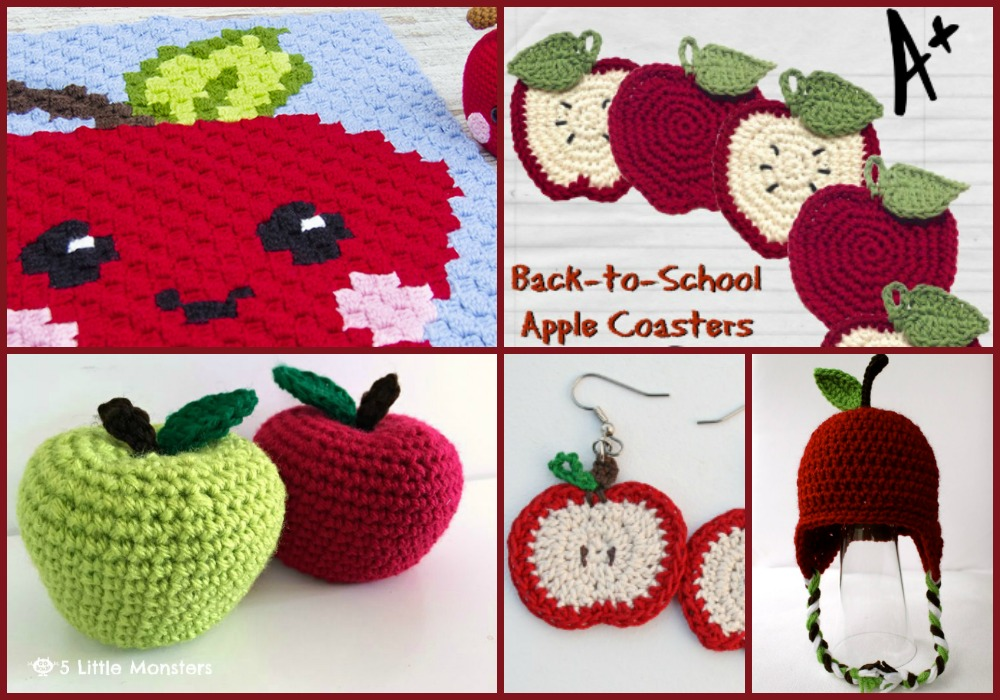 10 Free Apple Crochet Patterns | Hooked on Homemade Happiness