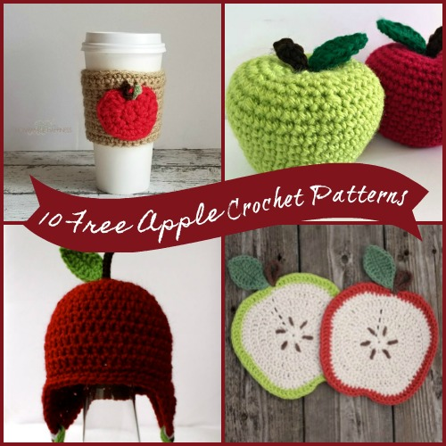 10 Free Apple Crochet Patterns Hooked On Homemade Happiness