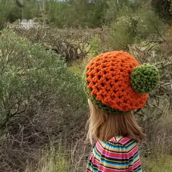Easy Pumpkin Crochet Beanie Pattern Hooked On Homemade Happiness