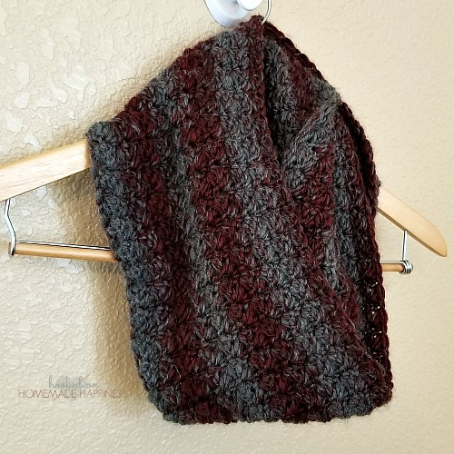 Claret Infinity Crochet Scarf Pattern Hooked On Homemade Happiness