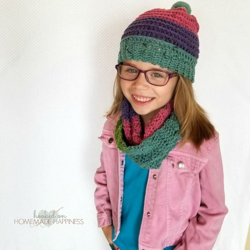 Candy Stripes Crochet Hat and Scarf Set Pattern  97f6c4e5d7f