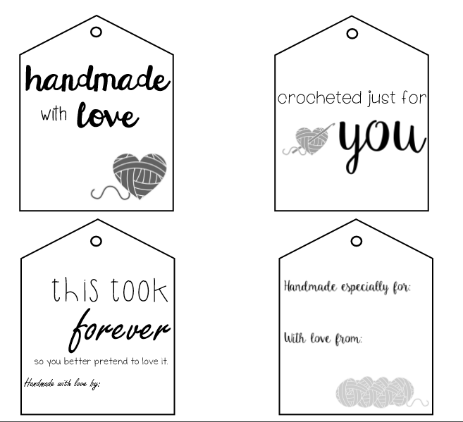 picture regarding Free Printable Gift Tags identify No cost Printable Reward Tags Hooked upon Handmade Joy
