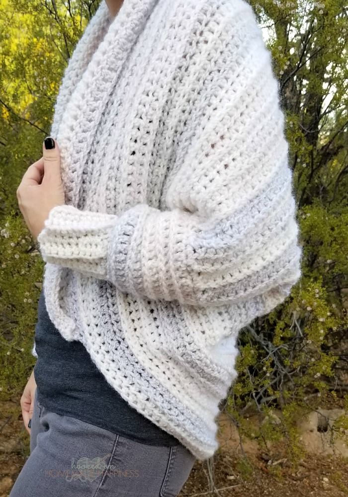 The Coziest Crochet Cardigan | Hooked on Homemade Happiness