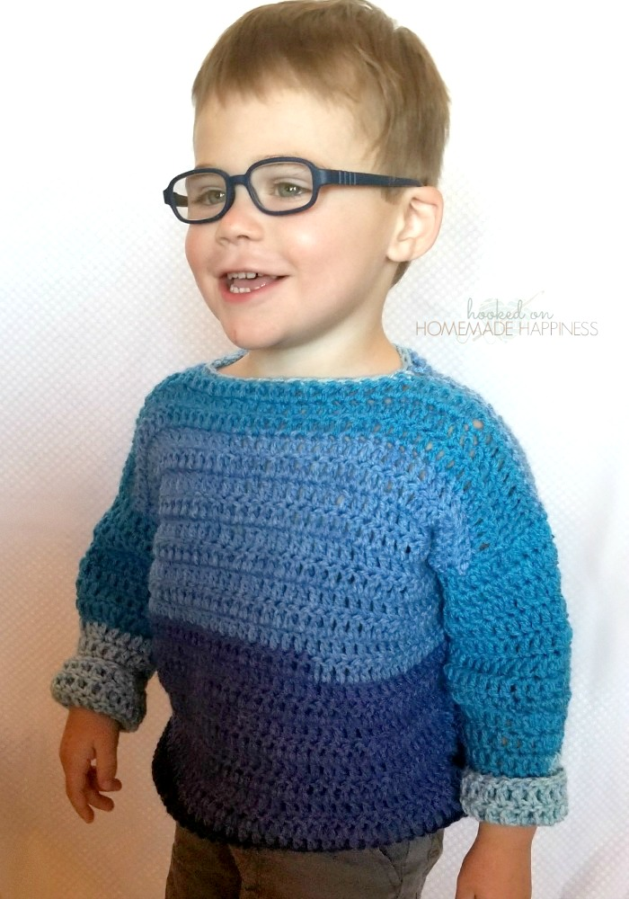 Everykid Crochet Sweater Pattern Hooked On Homemade Happiness