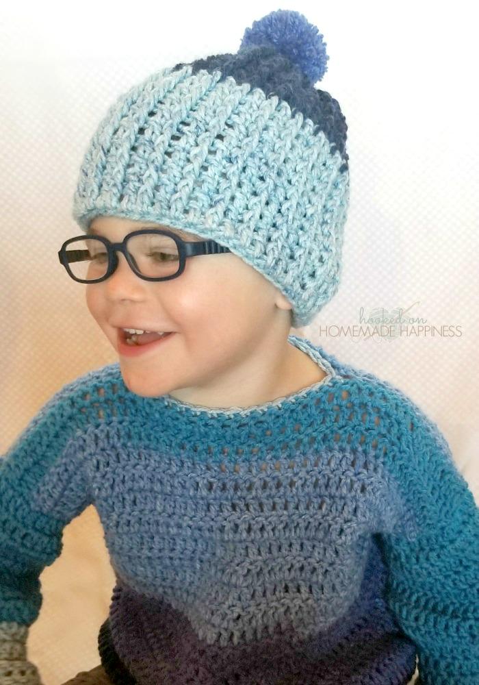 Easy Ribbed Crochet Beanie  4961ec03c97