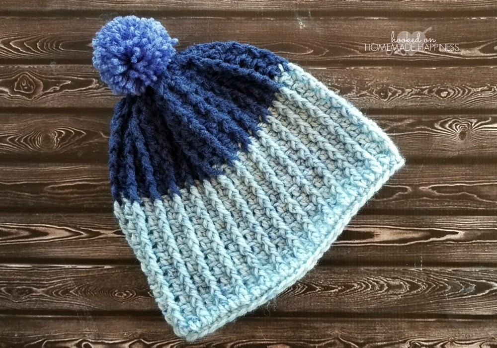 Easy Ribbed Crochet Beanie Hooked On Homemade Happiness