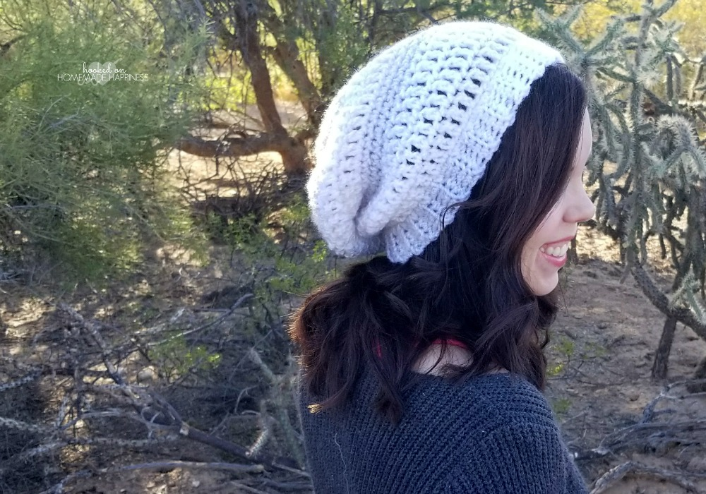 Easy Slouchy Crochet Beanie Pattern Hooked On Homemade Happiness