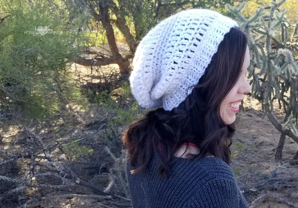 4099e0894fc Easy Slouchy Crochet Beanie Pattern