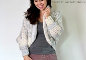 The Coziest Crochet Cardigan - The Coziest Crochet Cardigan is made from the softest, squishiest yarn and it's bound to keep you nice and cozy this winter!