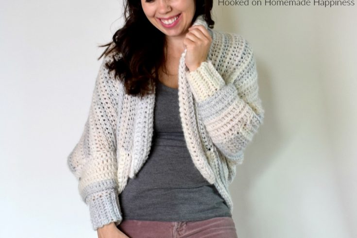 The Coziest Crochet Cardigan - TheCoziest Crochet Cardigan is made from the softest, squishiest yarn and it's bound to keep you nice and cozy this winter!