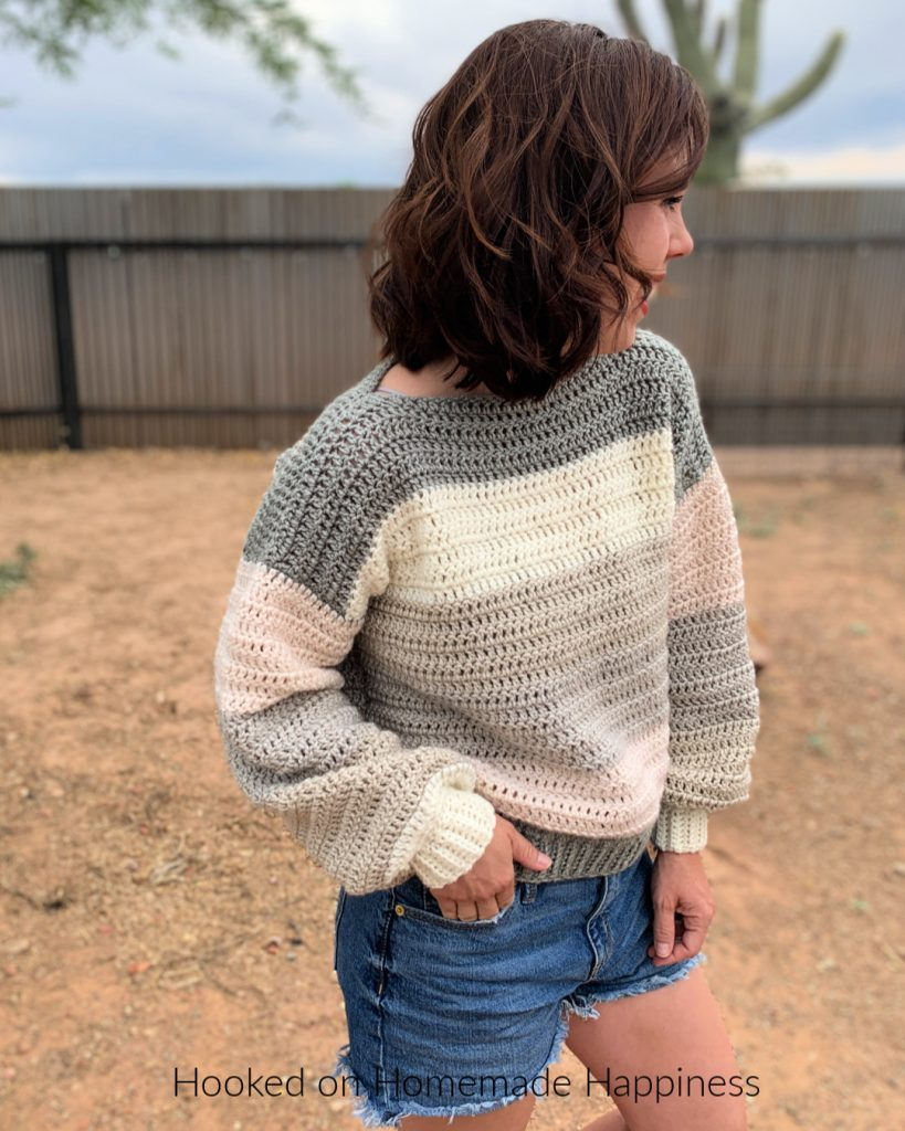 Everygirl Sweater Crochet Pattern - This comfy, easy to make sweater is the perfect addition to your fall wardrobe.