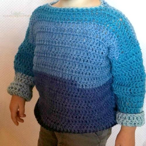 2a046090b8550 Everykid Crochet Sweater Pattern