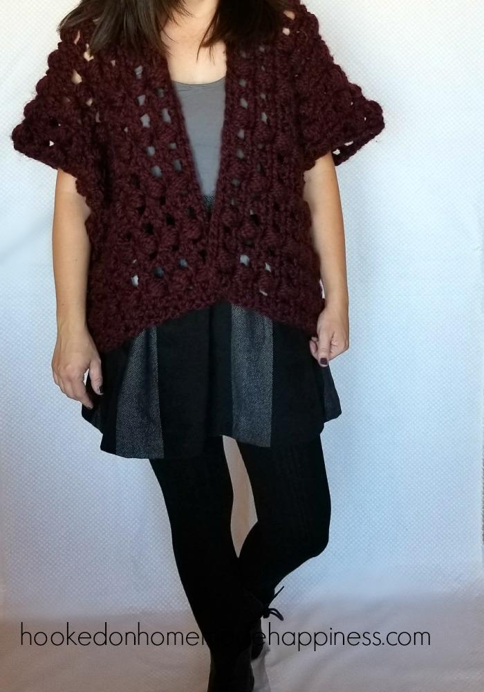 Puff Stitch Crochet Cardigan Pattern Hooked On Homemade Happiness