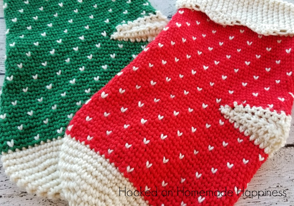 make sure theres plenty of room for santa with these oversized fair isle christmas stockings crochet pattern