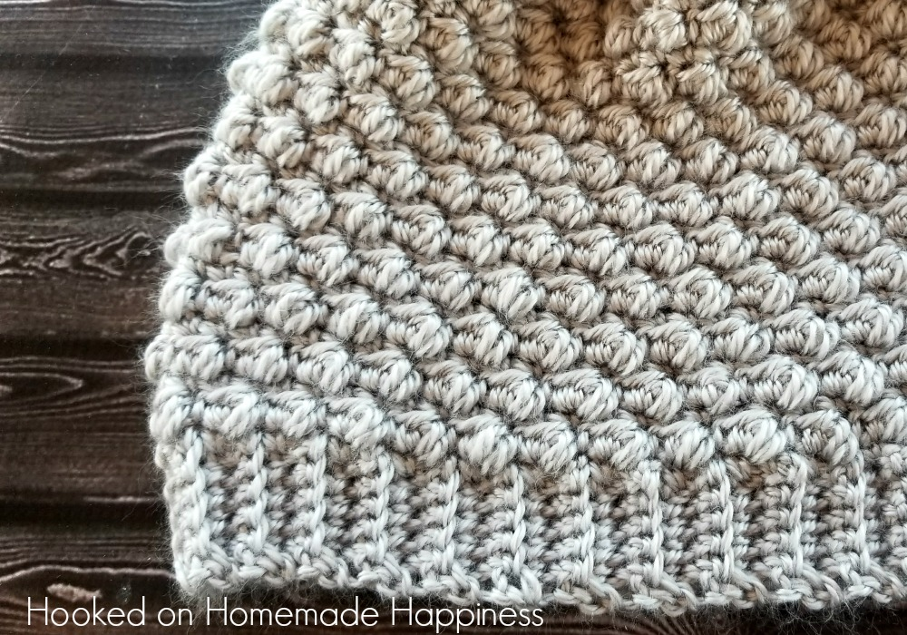 Pebble Beanie Crochet Pattern | Hooked on Homemade Happiness