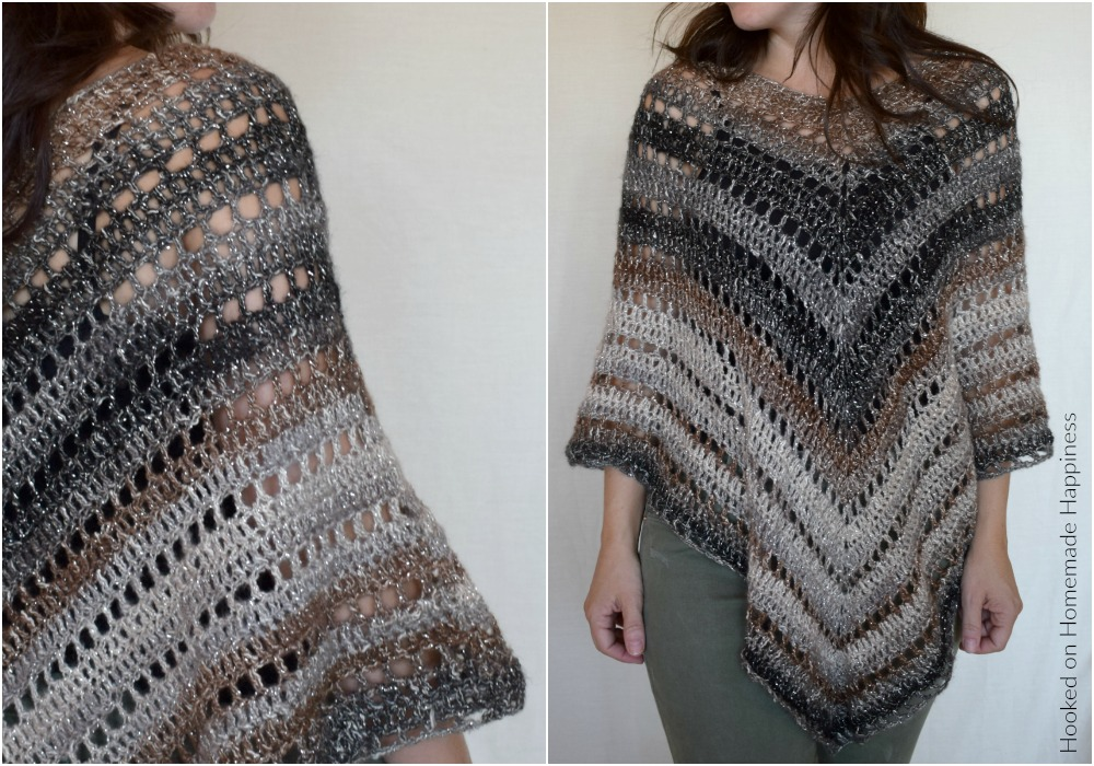 Desertlife Crochet Poncho Pattern Hooked On Homemade Happiness