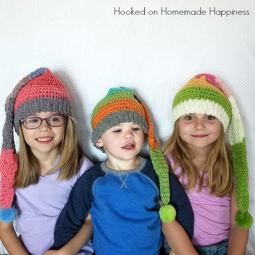 a2327cb9208 Elf Crochet Hats with Caron Cupcakes