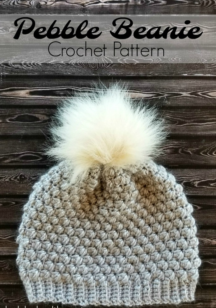 Pebble Beanie Crochet Pattern - I recently discovered the Pebble Stitch and I fell in love with it and had to make the Pebble Beanie Crochet Pattern right away! It's beautifully textured and is so easy to create with a simple 4 row repeat.