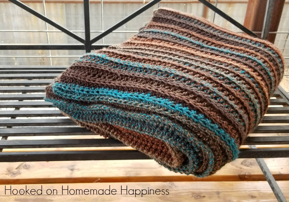 Easy All Half Double Crochet Afghan Hooked On Homemade Happiness