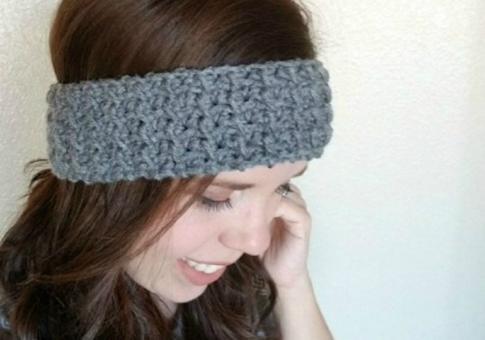textured ear warmer headband crochet pattern
