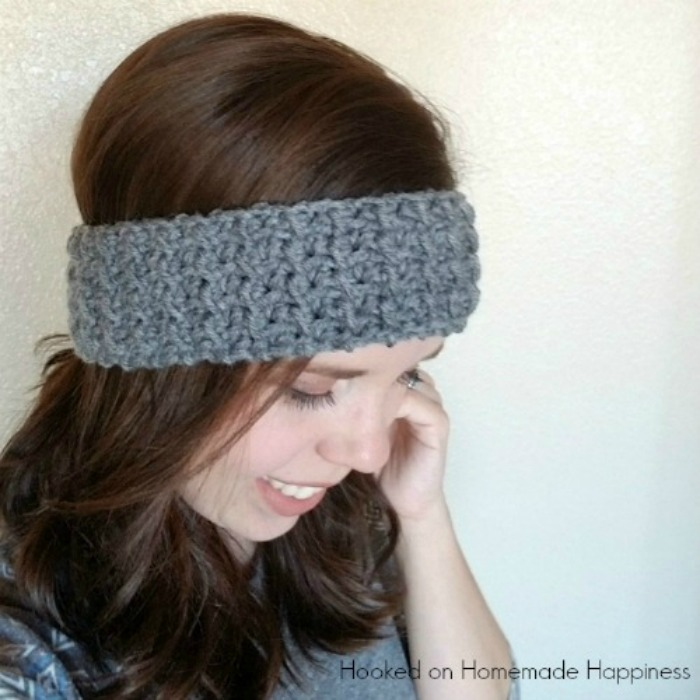 Easy Textured Ear Warmer Crochet Pattern | Hooked on Homemade Happiness