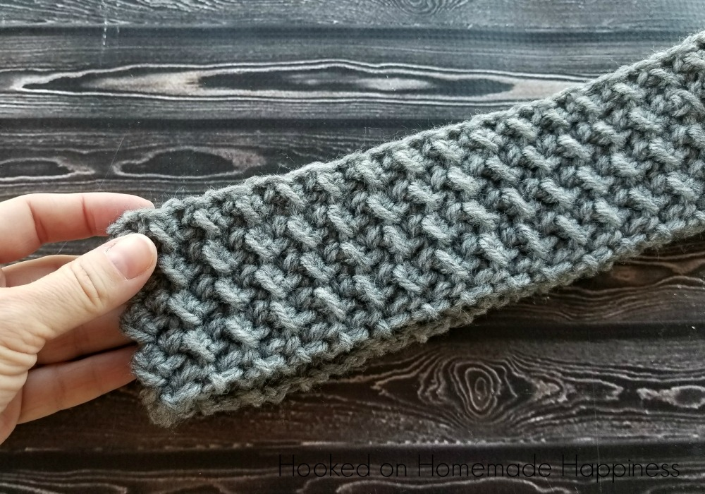 Easy Textured Ear Warmer Crochet Pattern Hooked On