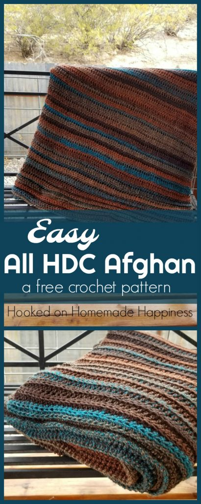 Easy All Half Double Crochet Afghan