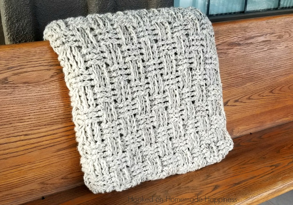 Chunky Basketweave Throw Crochet Pattern Hooked On Homemade Happiness