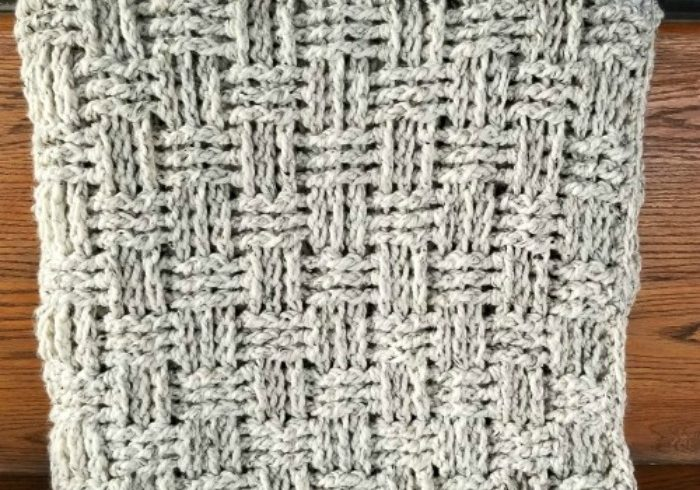chunky basketweave throw crochet pattern