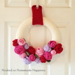 valentine's day wreath crochet pattern