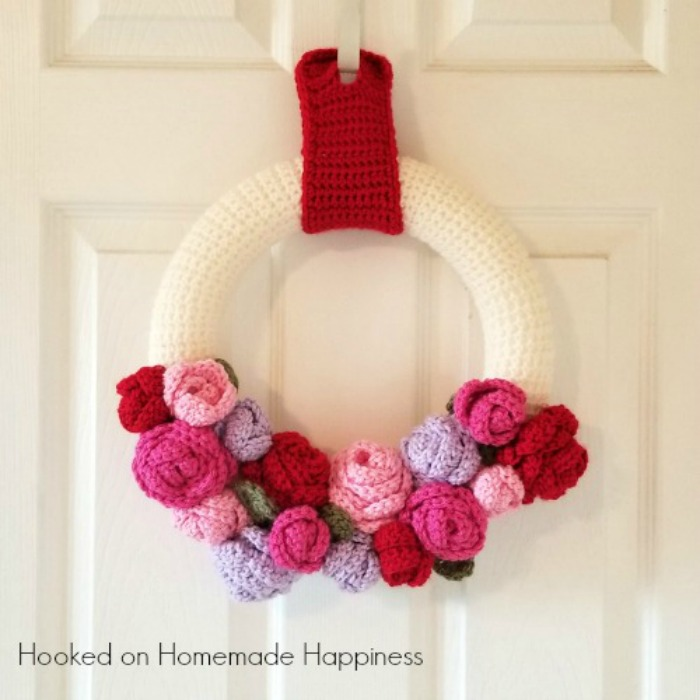 valentine's day wreath crochet pattern
