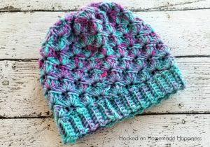 Shell Stitch Beanie Crochet Pattern