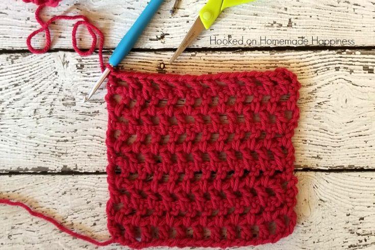 filet mesh net crochet stitch tutorial