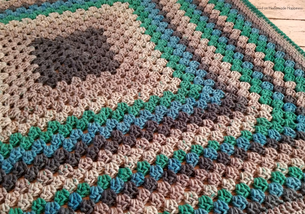 Granny Square Baby Blanket Crochet Pattern Hooked On