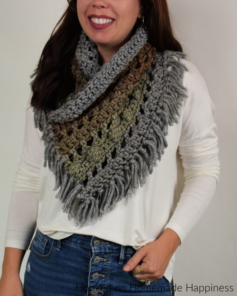 Tea Cake Cowl Crochet Pattern - I'm loving the colorways in the Caron Tea Cakes and they're the perfect size to make this Tea Cake Cowl Crochet Pattern! Neutrals have been calling my name lately and these are perfect!